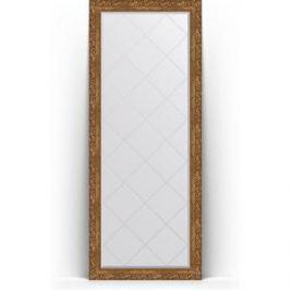 Зеркало напольное с гравировкой поворотное Evoform Exclusive-G Floor 80x200 см, в багетной раме - виньетка бронзовая 85 мм (BY 6312)