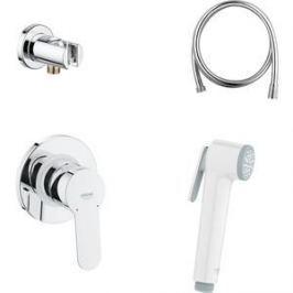 Гигиенический душ со смесителем Grohe BauEdge скрытого монтажа, душ белый (124897)
