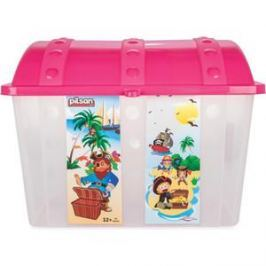 Контейнер для игрушек Pilsan Сундук розовый (06-189)