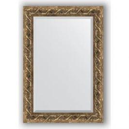 Зеркало с фацетом в багетной раме поворотное Evoform Exclusive 66x96 см, фреска 84 мм (BY 1279)