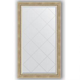 Зеркало с гравировкой поворотное Evoform Exclusive-G 73x128 см, в багетной раме - состаренное серебро с плетением 70 мм (BY 4218)