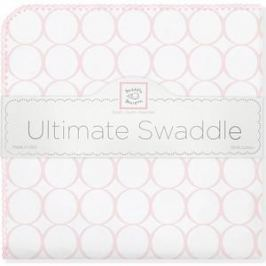 Фланелевая пеленка SwaddleDesigns для новорожденного Pink Mod on WH (SD-022PP)