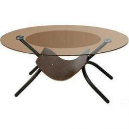 Стол журнальный Мебелик Дуэт 2 чёрный/тонированное