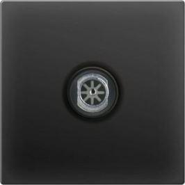 ТВ-розетка проходная Werkel черный матовый WL08-TV-2W