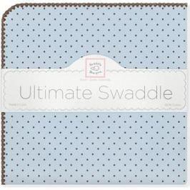 Фланелевая пеленка SwaddleDesigns для новорожденного Blue w/BR Dot (SD-014PB)
