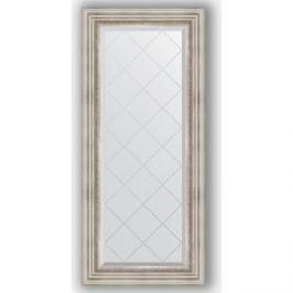 Зеркало с гравировкой поворотное Evoform Exclusive-G 56x126 см, в багетной раме - римское серебро 88 мм (BY 4061)