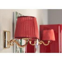 Светильник Акватон Венеция 3009/M/ORO золото, плафон красный (1AX014SVXX000)