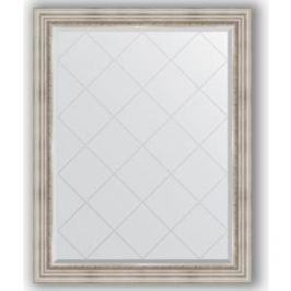 Зеркало с гравировкой поворотное Evoform Exclusive-G 96x121 см, в багетной раме - римское серебро 88 мм (BY 4362)