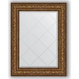 Зеркало с гравировкой поворотное Evoform Exclusive-G 70x93 см, в багетной раме - виньетка состаренная бронза 109 мм (BY 4126)