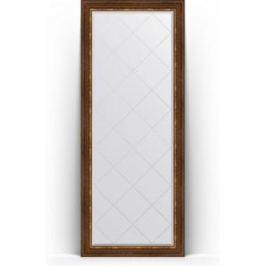 Зеркало напольное с гравировкой поворотное Evoform Exclusive-G Floor 81x201 см, в багетной раме - римская бронза 88 мм (BY 6319)