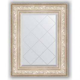 Зеркало с гравировкой поворотное Evoform Exclusive-G 60x78 см, в багетной раме - виньетка серебро 109 мм (BY 4039)