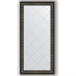 Зеркало с гравировкой поворотное Evoform Exclusive-G 75x157 см, в багетной раме - черный ардеко 81 мм (BY 4268)