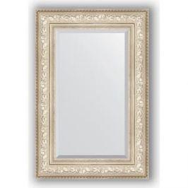 Зеркало с фацетом в багетной раме поворотное Evoform Exclusive 60x90 см, виньетка серебро 109 мм (BY 3426)