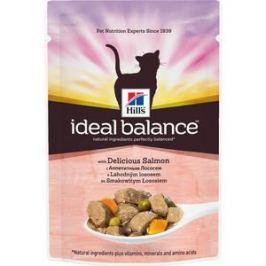 Паучи Hill's Ideal Balance with Delicious Salmon c аппетитным лососем и овощами для кошек 82г (10025)