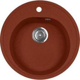 Кухонная мойка AquaGranitEx M-08 505х505 красный марс (M-08 (334))