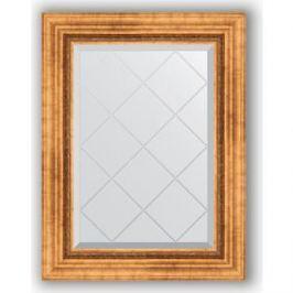 Зеркало с гравировкой поворотное Evoform Exclusive-G 56x74 см, в багетной раме - римское золото 88 мм (BY 4017)