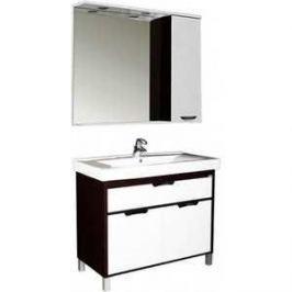 Комплект мебели Aquanet Гретта 100 №1 цвет венге (фасад белый)