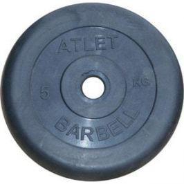 Диск обрезиненный Atlet 26 мм 5 кг черный