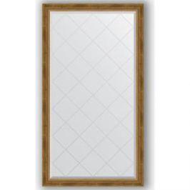 Зеркало с гравировкой поворотное Evoform Exclusive-G 93x168 см, в багетной раме - состаренная бронза с плетением 70 мм (BY 4391)
