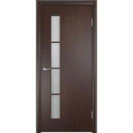 Дверь VERDA Тип С-14(о) остекленная 1900х550 МДФ финиш-пленка Венге