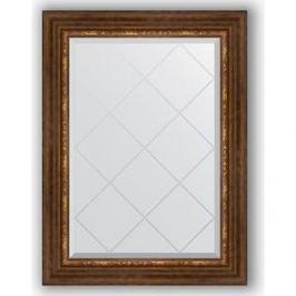 Зеркало с гравировкой поворотное Evoform Exclusive-G 66x89 см, в багетной раме - римская бронза 88 мм (BY 4105)