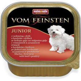 Консервы Animonda Vom Feinsten Junior с говядиной и мясом домашней птицы для щенков и юниоров 150г (82972)
