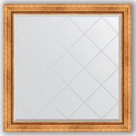 Зеркало с гравировкой Evoform Exclusive-G 106x106 см, в багетной раме - римское золото 88 мм (BY 4447)