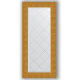 Зеркало с гравировкой поворотное Evoform Exclusive-G 56x126 см, в багетной раме - чеканка золотая 90 мм (BY 4065)