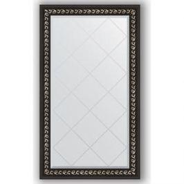 Зеркало с гравировкой поворотное Evoform Exclusive-G 75x129 см, в багетной раме - черный ардеко 81 мм (BY 4225)