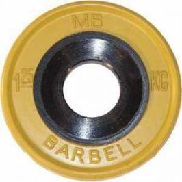 Диск обрезиненный MB Barbell 51 мм 1.25 кг желтый