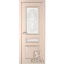 Дверь VERDA Стиль остекленная 2000х700 шпон Дуб белёный
