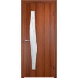Дверь VERDA Тип С-10(Ф) остекленная 1900х600 МДФ финиш-пленка Итальянский орех