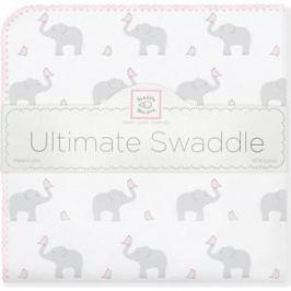 Фланелевая пеленка SwaddleDesigns для новорожденного PP Elephants/Chicks (SD-460PP)