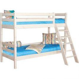 Детская двухъярусная кровать Мебельград Соня с наклонной лестницей вариант 10