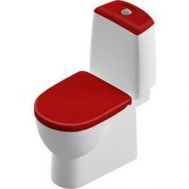 Унитаз компакт SANITA LUXE Best Color Red бело/красный с сиденьем микролифт (SL900307)