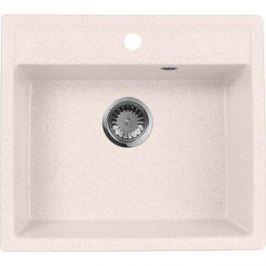 Кухонная мойка AquaGranitEx M-56 560х500 светло-розовый (M-56 (311))