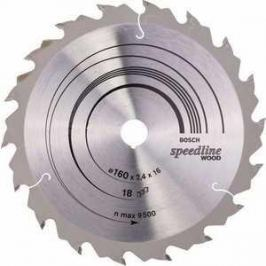Диск пильный Bosch 160х16мм 18зубьев Speedline Wood (2.608.640.785)