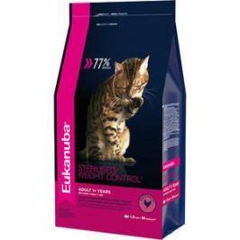 Сухой корм Eukanuba Adult Cat Sterilised / Weight Control Rich in Poultry с домашней птицей для стерилизованных и с избыточным весом кошек 1,5кг