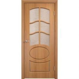 Дверь VERDA Неаполь 2 остекленная 1900х600 ПВХ Миланский орех