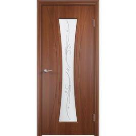 Дверь VERDA Богемия остекленная 2000х800 ПВХ Итальянский орех