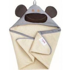 3 Sprouts Детское полотенце с капюшоном Серая обезьянка (Grey Monkey) (28619