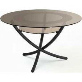 Стол журнальный Мебелик Дуэт 4 чёрный/тонированное