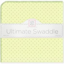 Фланелевая пеленка SwaddleDesigns для новорожденного Kiwi w/Kiwi Dot (SD-048KW)