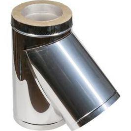 Тройник Феникс сэндвич 115/200 мм угол 45 градусов сталь AISI 430 (0.5 нерж.мат./0.5 нерж.зерк.)(02557)
