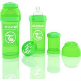 Twistshake Антиколиковая бутылочка для кормления 260 мл. Зелёная (780010)