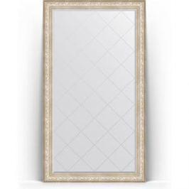 Зеркало напольное с гравировкой поворотное Evoform Exclusive-G Floor 115x205 см, в багетной раме - виньетка серебро 109 мм (BY 6376)