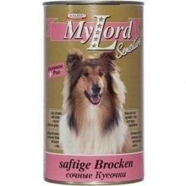 Консервы Dr.ALDER's MyLord Sensitive Softige Brocken сочные кусочки с ягненком и рисом для собак 1,23кг (1838)
