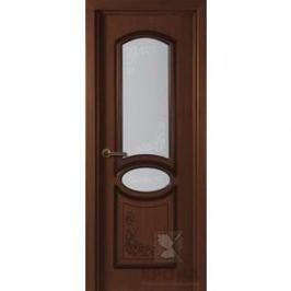 Дверь VERDA Муза остекленная 2000х800 шпон Макоре