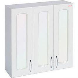Шкаф Меркана навесной 60 см 3-х дверный с зеркалом белый (7241)
