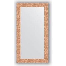 Зеркало в багетной раме поворотное Evoform Definite 56x106 см, соты медь 70 мм (BY 3082)